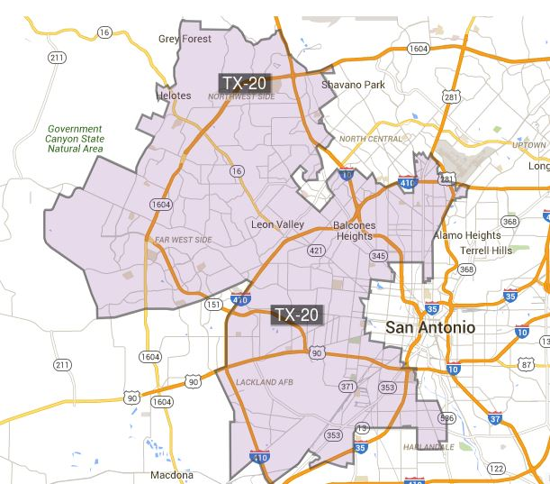 US Congressional Texas District 20