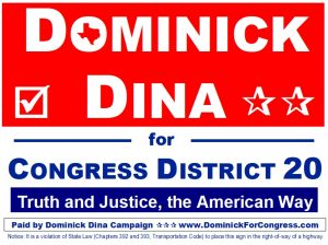 Dominick For Congress Texas CD 20
